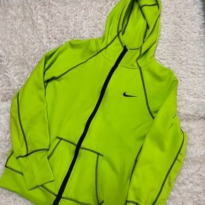 NIKE thermal fit hooded zip front jacket